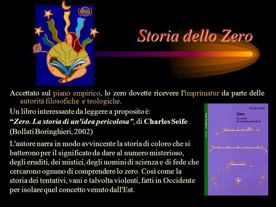 """Storia dello Zero Indiano: """"sunya"""" Arabo: """"sifr"""" Latino:""""zephirum"""""""
