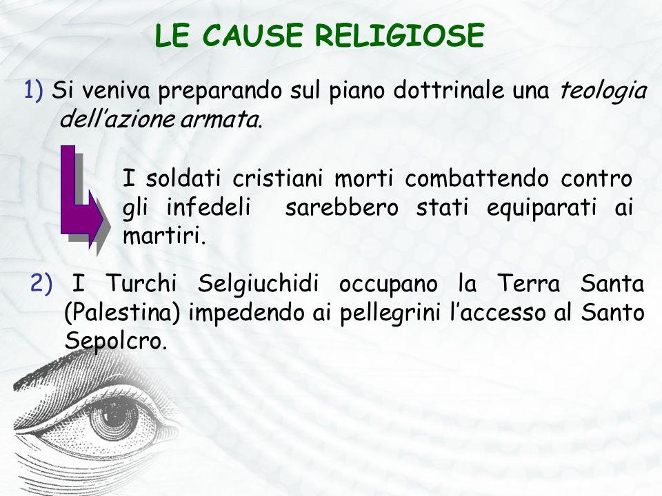 1) Si veniva preparando sul piano dottrinale una teologia dell'azione armata. LE CAUSE RELIGIOSE I soldati cristiani morti combattendo contro gli infe