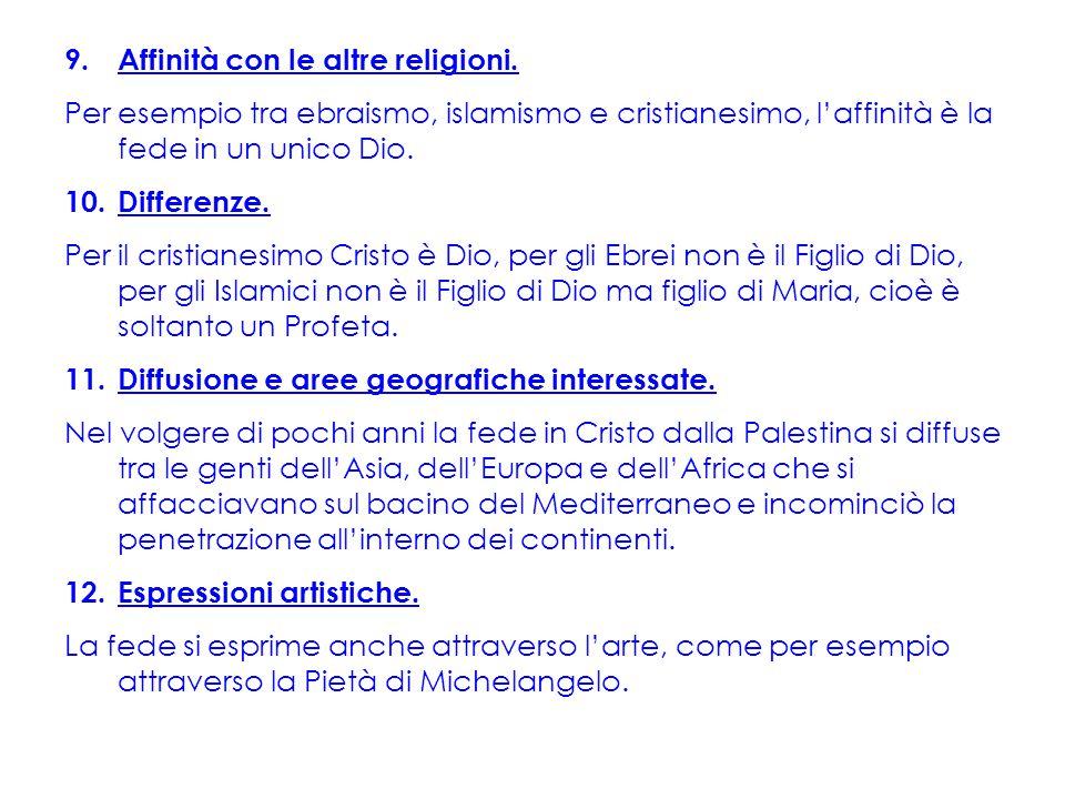 9.Affinità con le altre religioni.