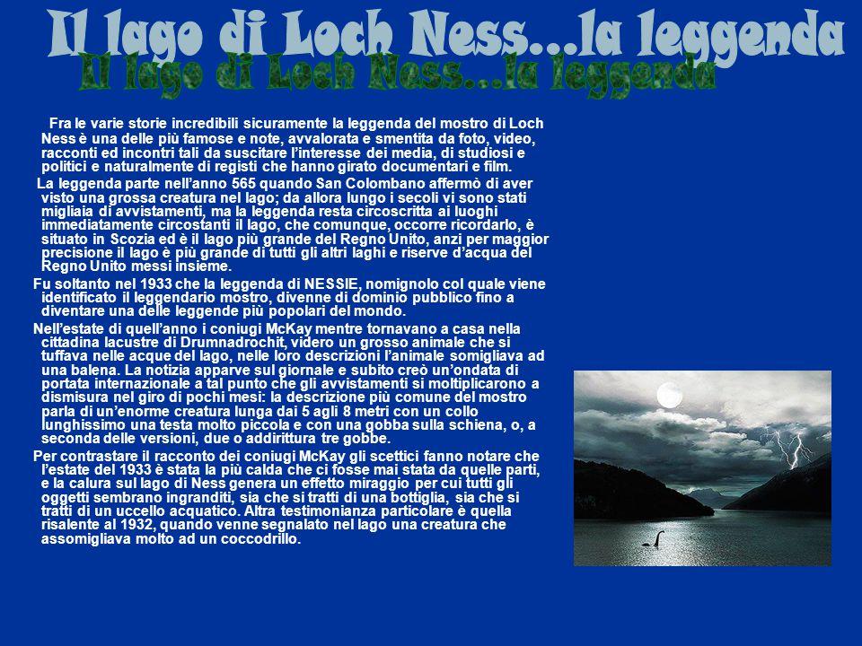 Fra le varie storie incredibili sicuramente la leggenda del mostro di Loch Ness è una delle più famose e note, avvalorata e smentita da foto, video, r