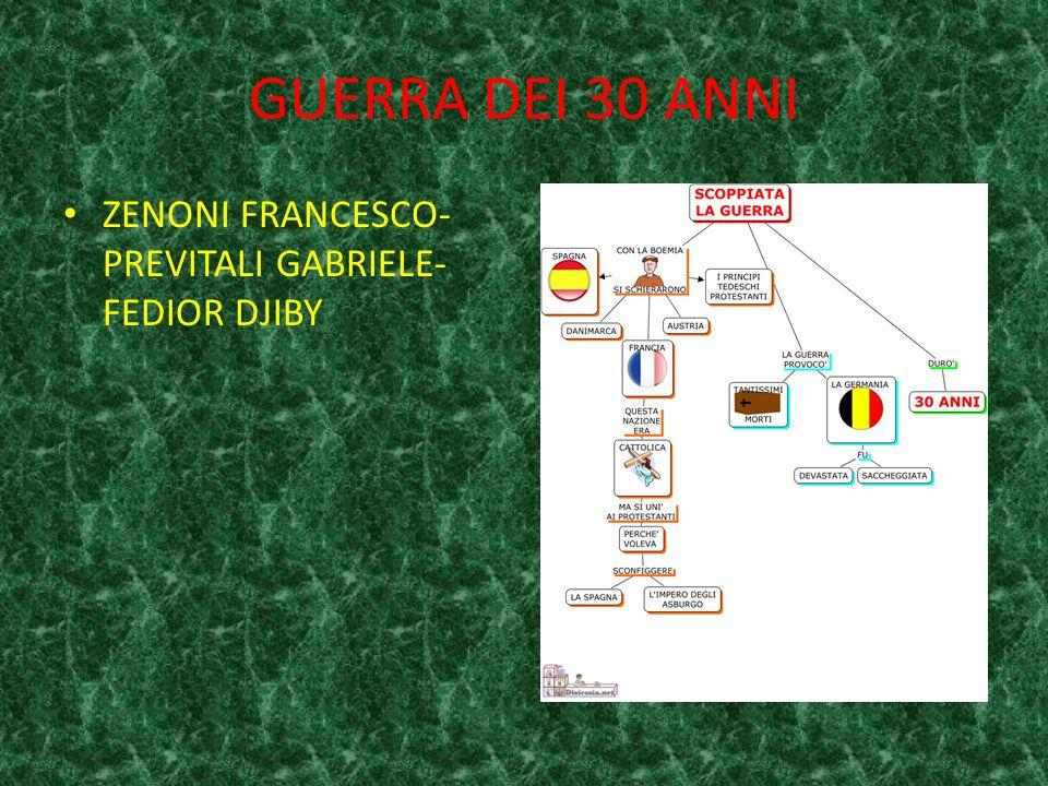 GUERRA DEI 30 ANNI ZENONI FRANCESCO- PREVITALI GABRIELE- FEDIOR DJIBY