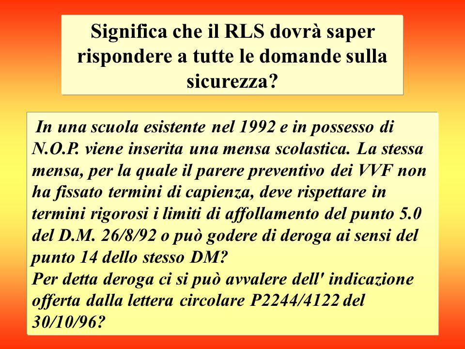 Nel sistema sicurezza la partecipazione del R.L.S.