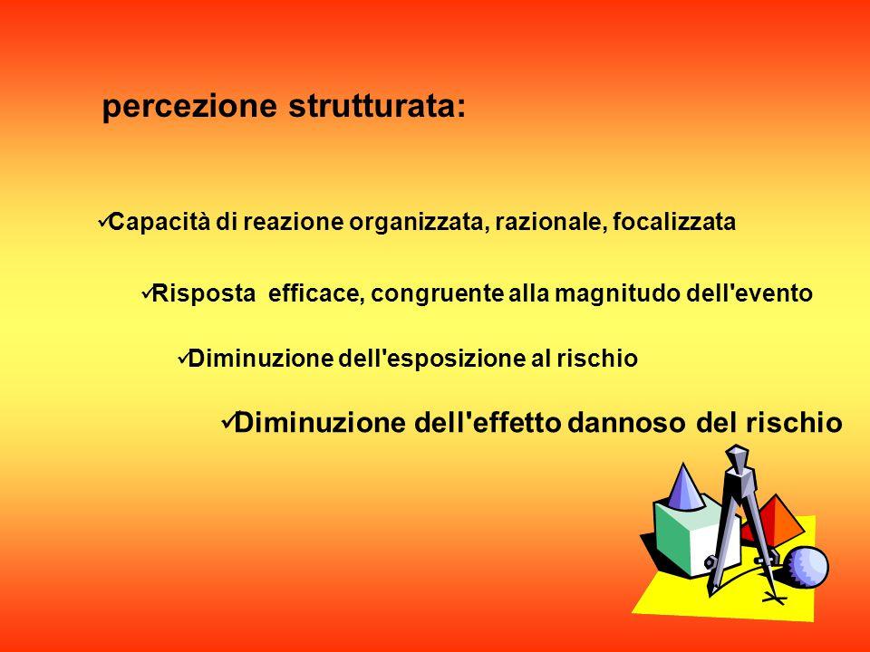 La percezione dell evento può essere: oppure strutturata non strutturata