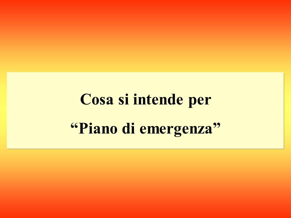 Elaborare il piano di emergenza