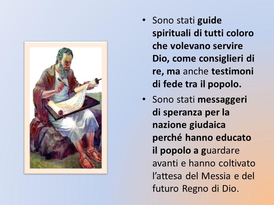 La prima funzione dei profeti biblici è dunque morale e spirituale.