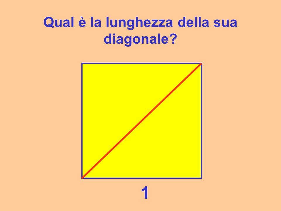 Prendiamo il quadrato più semplice, quello con il lato uguale a 1 1