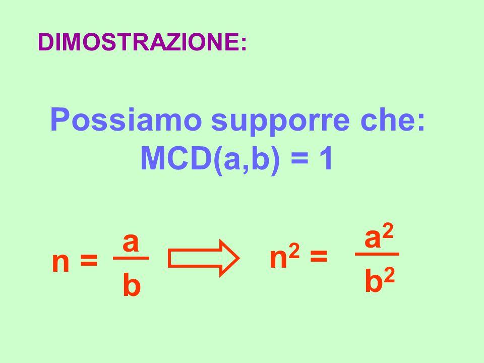 DIMOSTRAZIONE: Per definizione, n si può scrivere come rapporto di due numeri interi a, b: n = a b