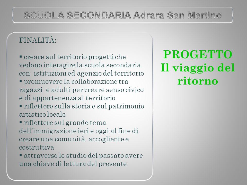FINALITÀ:  creare sul territorio progetti che vedono interagire la scuola secondaria con istituzioni ed agenzie del territorio  promuovere la collab