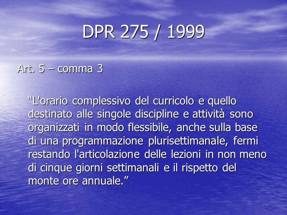 DPR 275 / 1999 Art.