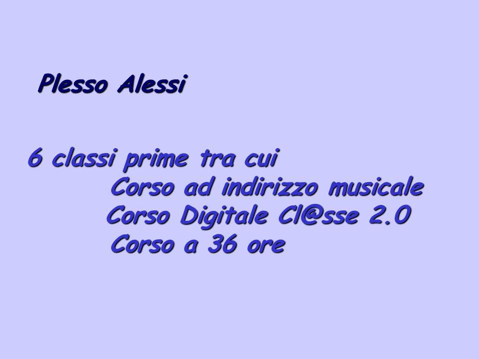 6 classi prime tra cui Corso ad indirizzo musicale Corso ad indirizzo musicale Corso Digitale Cl@sse 2.0 Corso Digitale Cl@sse 2.0 Corso a 36 ore Cors