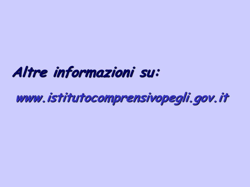 Altre informazioni su: www.istitutocomprensivopegli.gov.it
