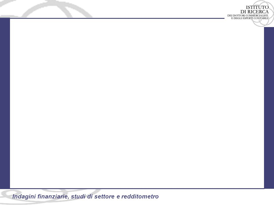 13 Indagini finanziarie, studi di settore e redditometro Le modifiche apportate con il D.L.