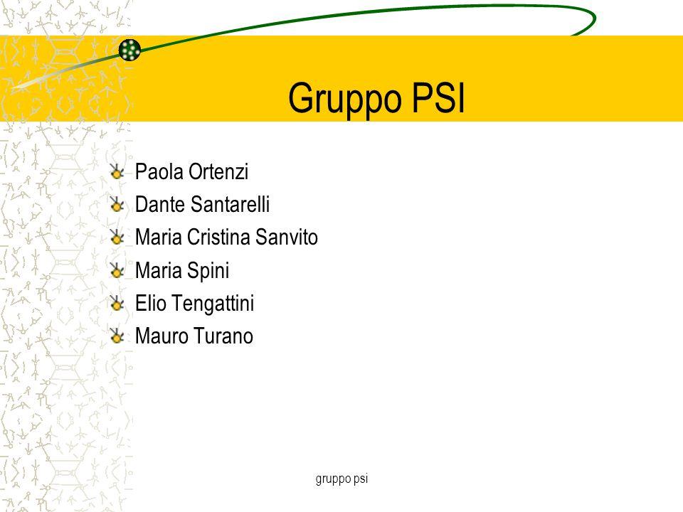 gruppo psi Gruppo PSI Paola Ortenzi Dante Santarelli Maria Cristina Sanvito Maria Spini Elio Tengattini Mauro Turano