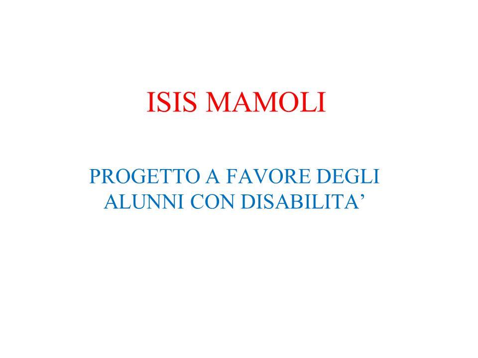 ISIS MAMOLI PROGETTO A FAVORE DEGLI ALUNNI CON DISABILITA'