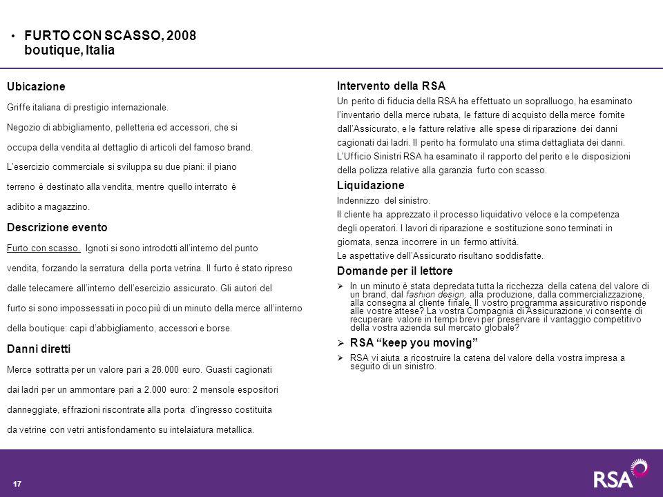 17 Ubicazione Griffe italiana di prestigio internazionale.