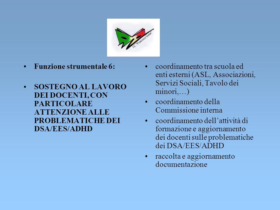 Funzione strumentale 5: COORDINAMENTO DELLE ATTIVITA' INERENTI IL PROGETTO LABORATORIO MUSICALE IN RETE coordinamento fra l'I.C.