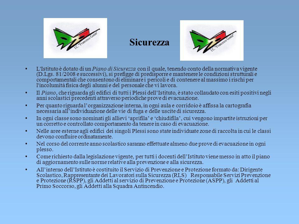 Organigramma SICUREZZA Organigramma SICUREZZA DIRIGENTE SCOLASTICO Dott.ssa ENRICA BOSIO -RSPP (Responsabile ServizioPrev. e Prot.)p.i. CORRADO GUARRA