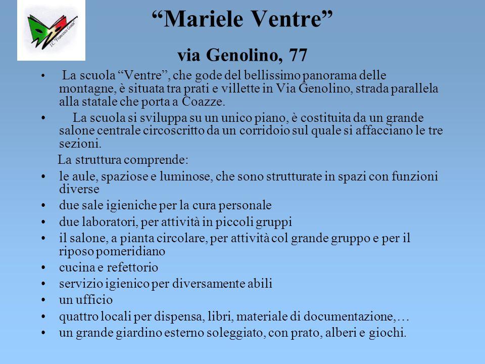 Ferruccio Crolle via M.Ausiliatrice, 60 La scuola dell'infanzia Crolle è situata in Via M.