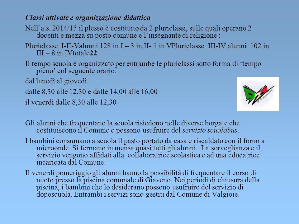 Scuola Ruffinatto di Valgioie Il Plesso B.