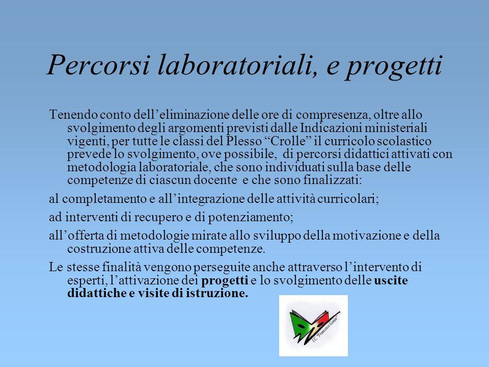 Classi attivate e organizzazione didattica Nell'a.s. 2014/15 il plesso è costituito da 2 pluriclassi, sulle quali operano 2 docenti e mezza su posto c
