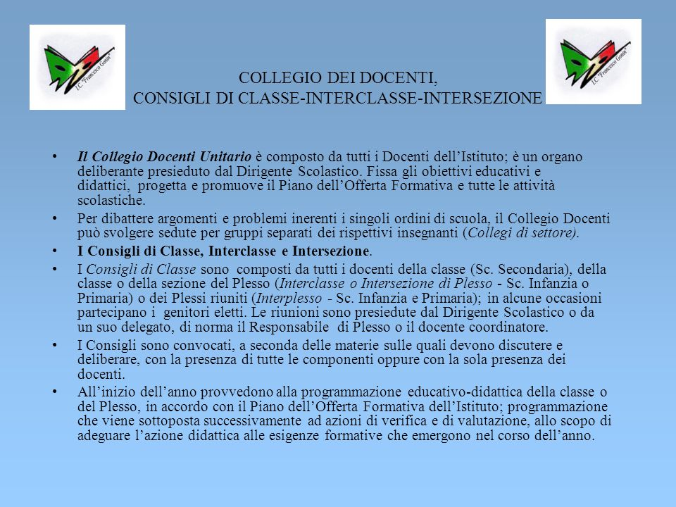 Scuola dell'Infanzia – Plessi F.Crolle e M. Ventre .