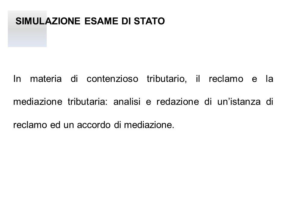SIMULAZIONE ESAME DI STATO Traccia La Società Rossi s.r.l.