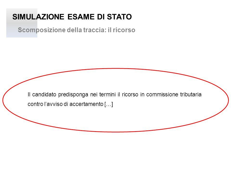 SIMULAZIONE ESAME DI STATO IL RECLAMO E LA MEDIAZIONE TRIBUTARIA art. 17bis D.Lgs 546/1992