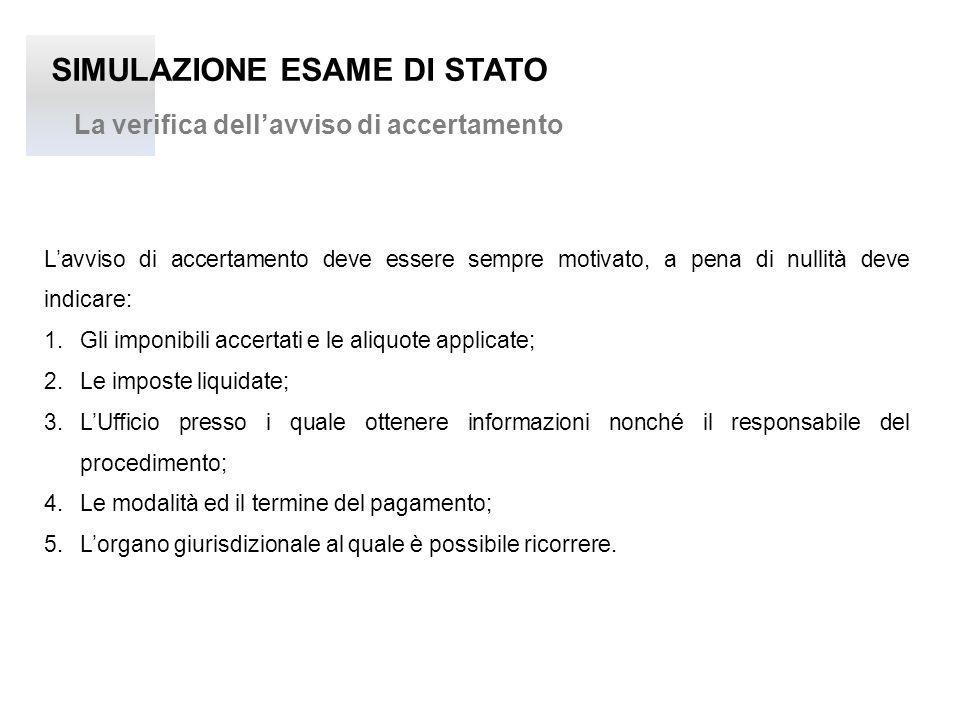 SIMULAZIONE ESAME DI STATO Lo schema del ricorso: gli elementi essenziali OGGETTO - Avviso di Rettifica e Liquidazione – atto n.