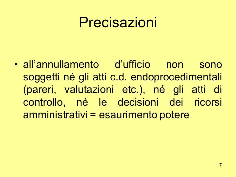 18 Segue: principio di proporzionalità e autotutela: i principi in gioco principio dell'effetto utile, principio di equivalenza, principio di effettività, principio di leale cooperazione ex art.