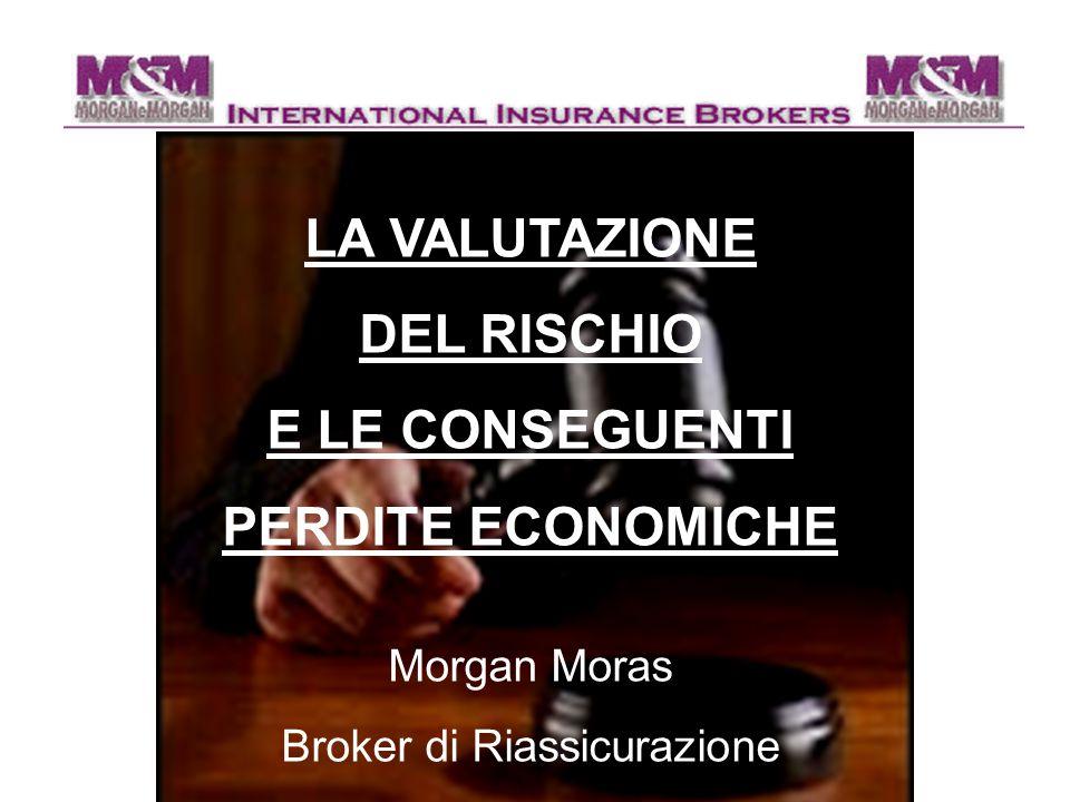 LA VALUTAZIONE DEL RISCHIO E LE CONSEGUENTI PERDITE ECONOMICHE Morgan Moras Broker di Riassicurazione