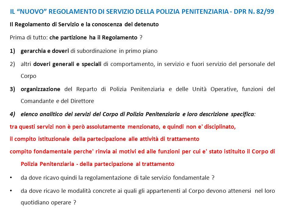 IL NUOVO REGOLAMENTO DI SERVIZIO DELLA POLIZIA PENITENZIARIA - DPR N.