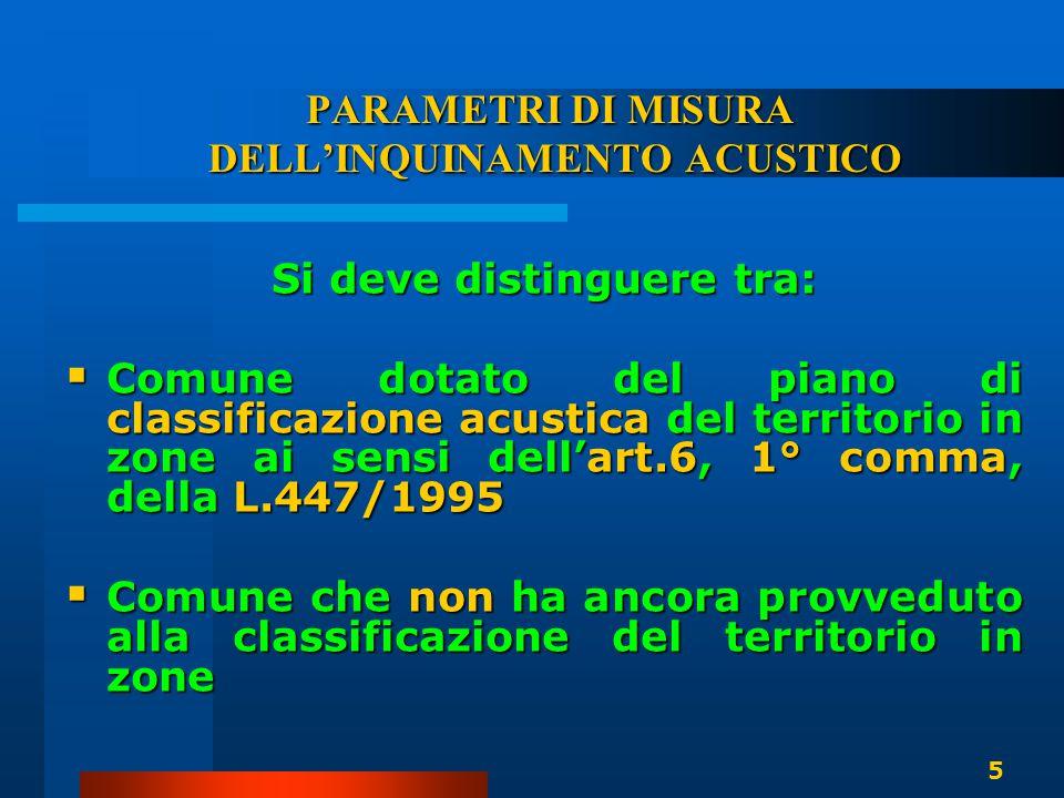 LA CLASSIFICAZIONE ACUSTICA DEL TERRITORIO COMUNALE  L'adozione della classificazione acustica del territorio è un atto che genera un preciso onere a carico dei comuni già dal 1991 (D.P.C.M.