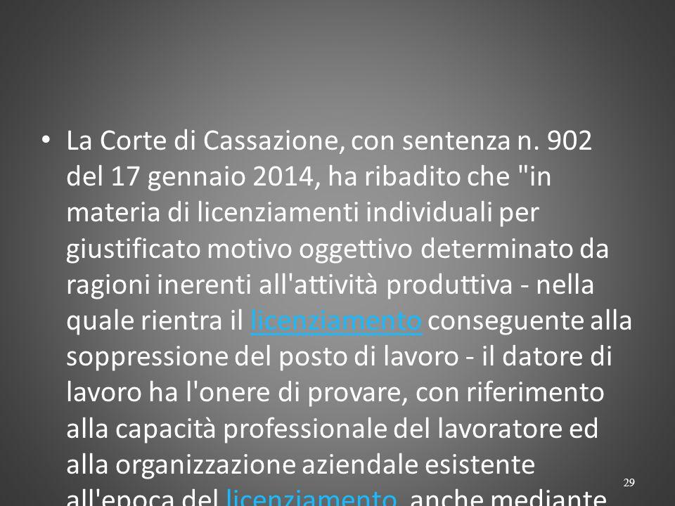 CASS. 6552/2009 « La disposizione dell'art.2103c.c.