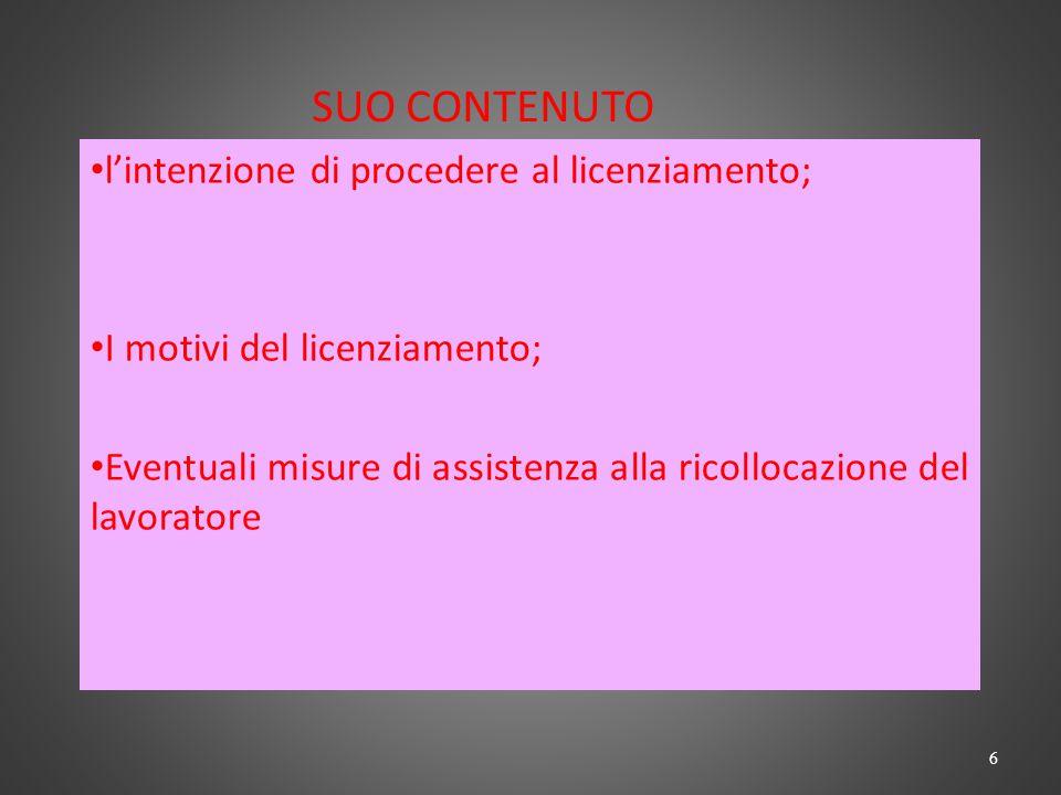 Legge n.99/2013 Ipotesi di licenziamento per g.m.o.