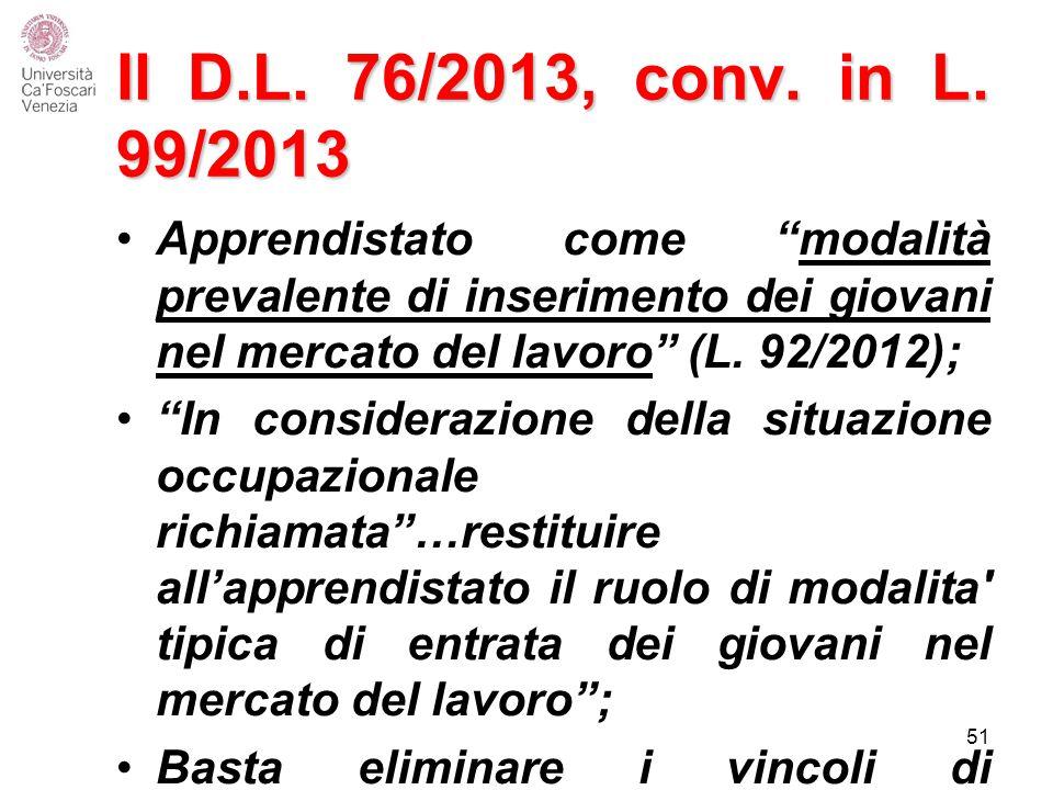 Il D.L.76/2013, conv. in L.