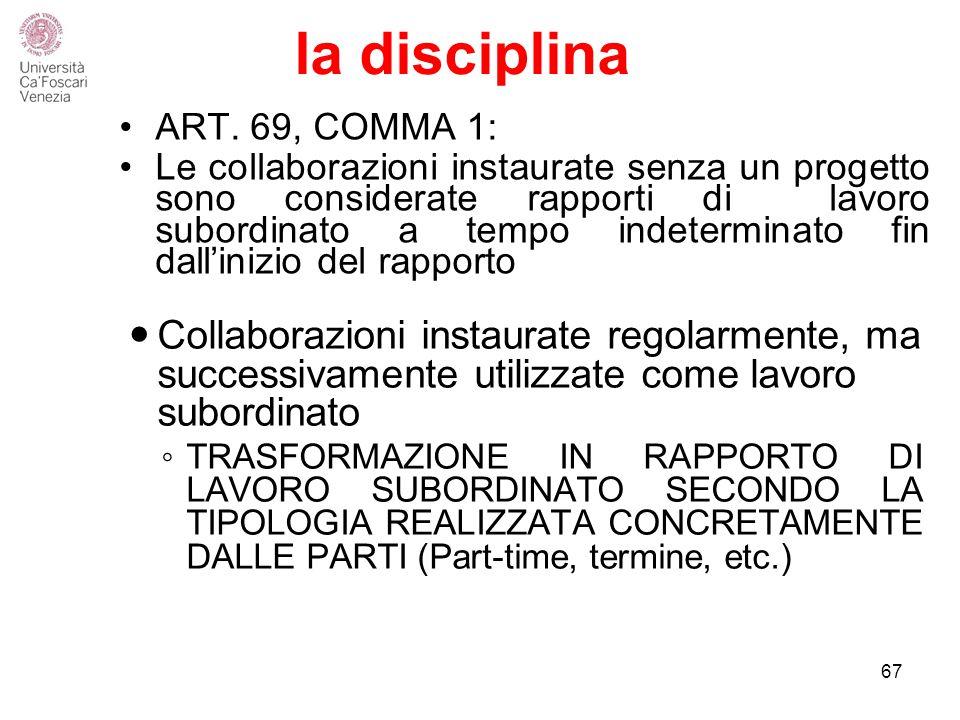 la disciplina ART.