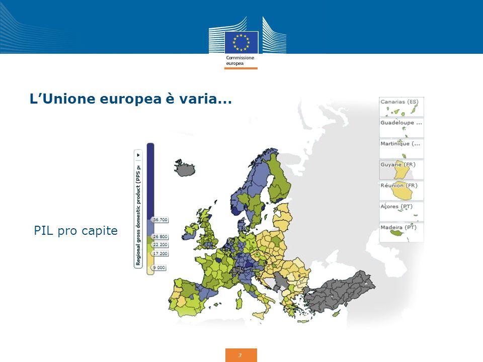 3 L'Unione europea è varia... PIL pro capite