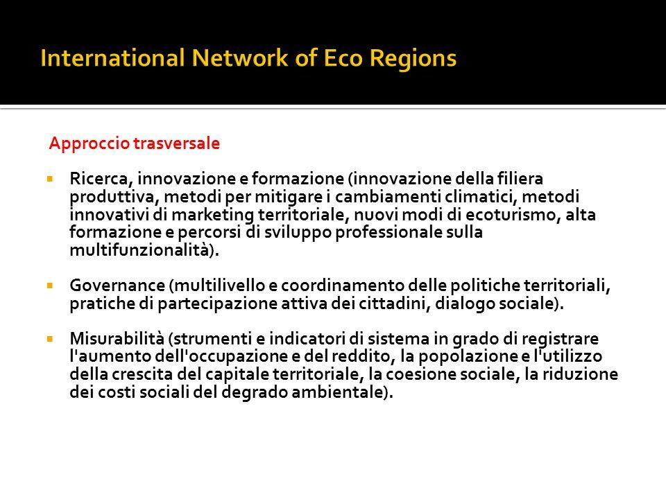 Approccio trasversale  Ricerca, innovazione e formazione (innovazione della filiera produttiva, metodi per mitigare i cambiamenti climatici, metodi i