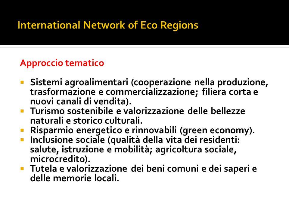 Approccio tematico  Sistemi agroalimentari (cooperazione nella produzione, trasformazione e commercializzazione; filiera corta e nuovi canali di vend