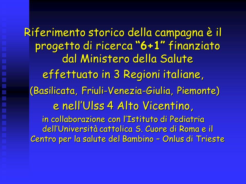 La Campagna è rivolta alle famiglie del Veneto, nell'intento di valorizzare il più possibile le capacità dei genitori di rendersi protagonisti nel promuovere la salute dei propri figli, rispetto alla quale hanno un ruolo insostituibile.