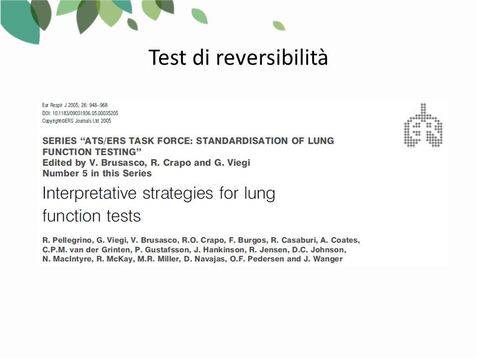 1.Scelta del tipo di test (stimolo broncocostrittore) 2.