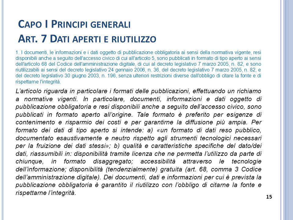 C APO I P RINCIPI GENERALI A RT.8 D ECORRENZA E DURATA DELL OBBLIGO DI PUBBLICAZIONE 1.