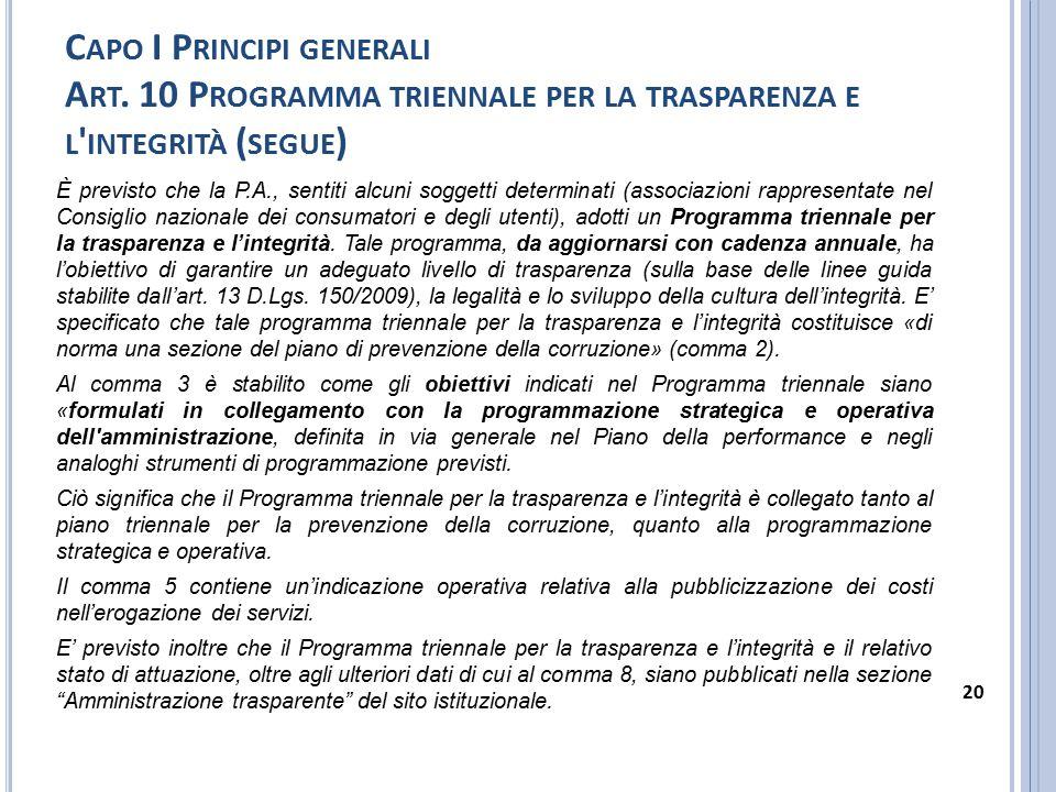 C APO I P RINCIPI GENERALI A RT.11 A MBITO SOGGETTIVO DI APPLICAZIONE 1.