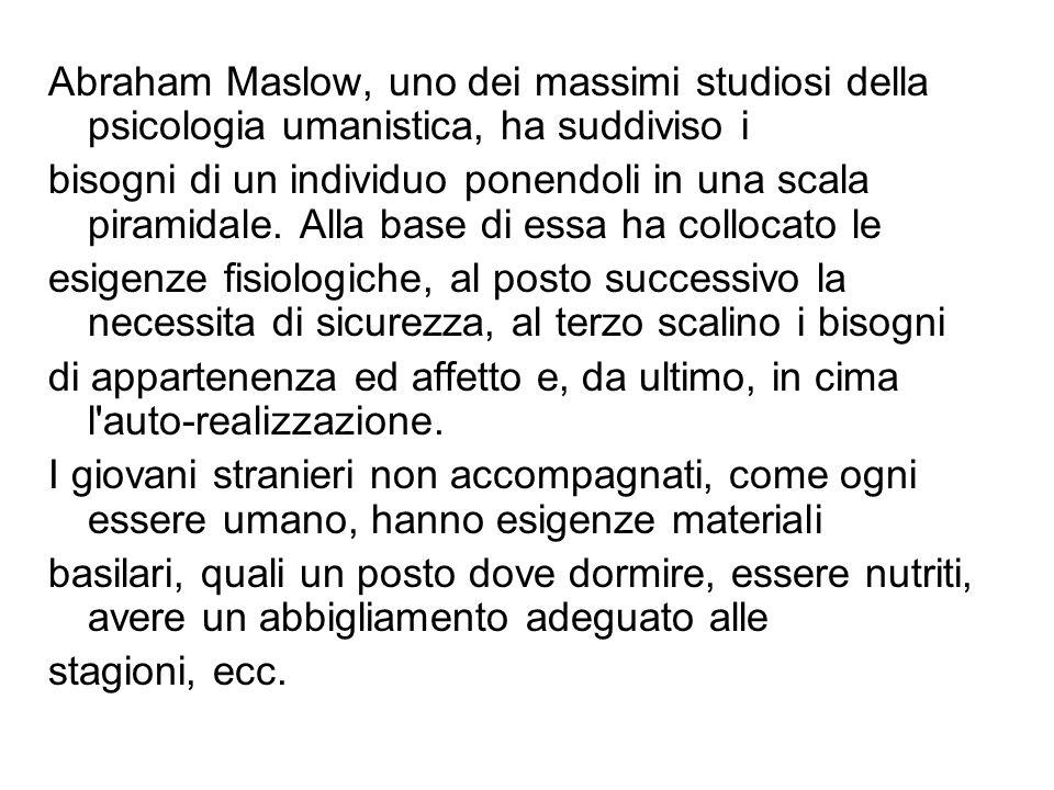 Abraham Maslow, uno dei massimi studiosi della psicologia umanistica, ha suddiviso i bisogni di un individuo ponendoli in una scala piramidale. Alla b