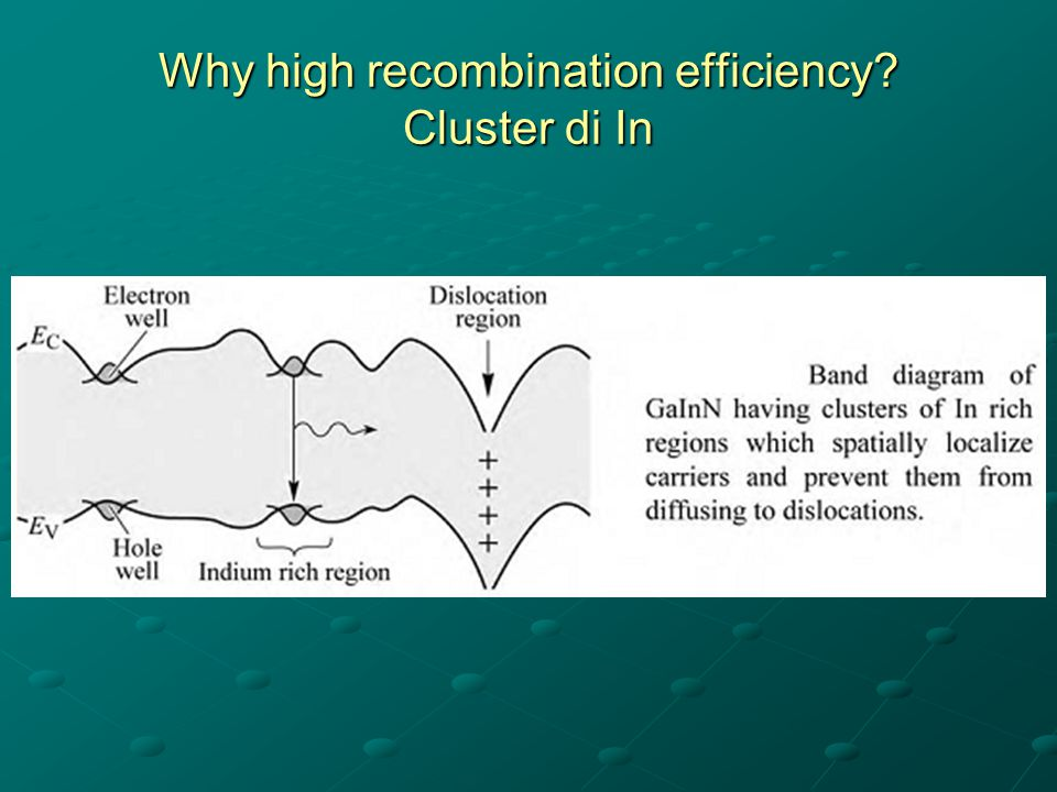 Why high recombination efficiency? Cluster di In