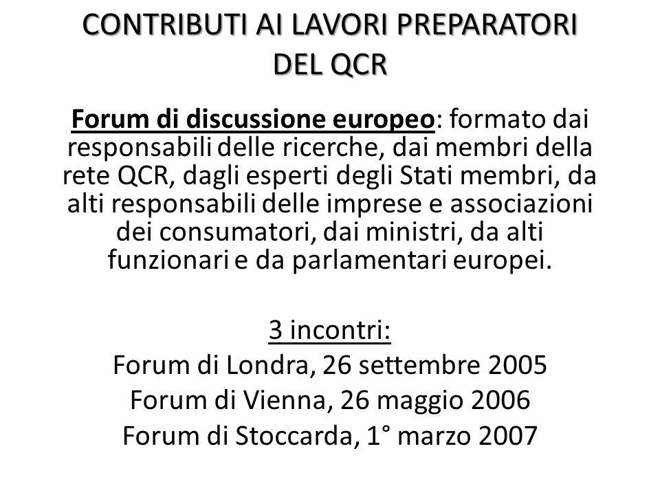 CONTRIBUTO DEL CONSIGLIO COMPETITIVITA' Dare la priorità, nei lavori, ai temi legati alla revisione dell' acquis in materia di tutela dei consumatori europei.