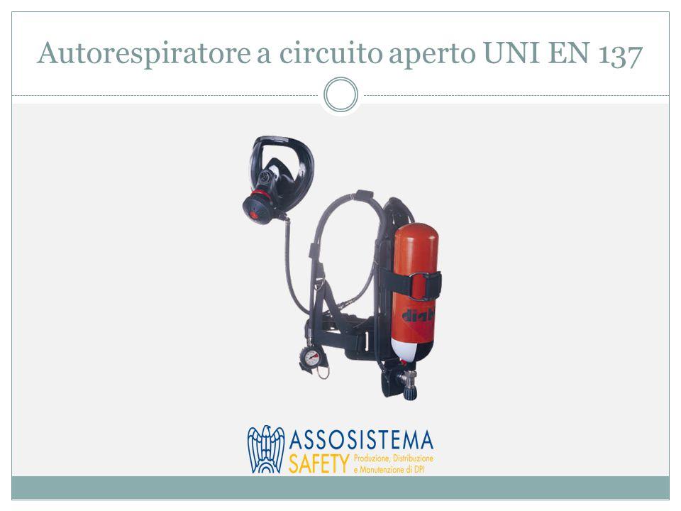 Autorespiratore a circuito aperto UNI EN 137
