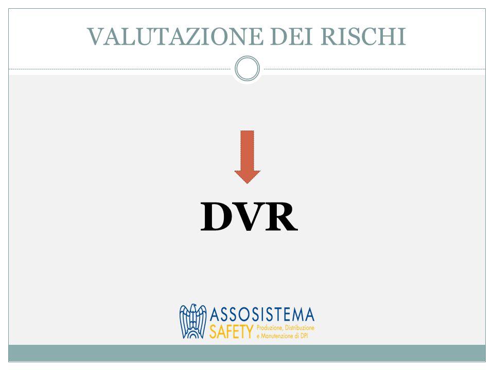 VALUTAZIONE DEI RISCHI DVR