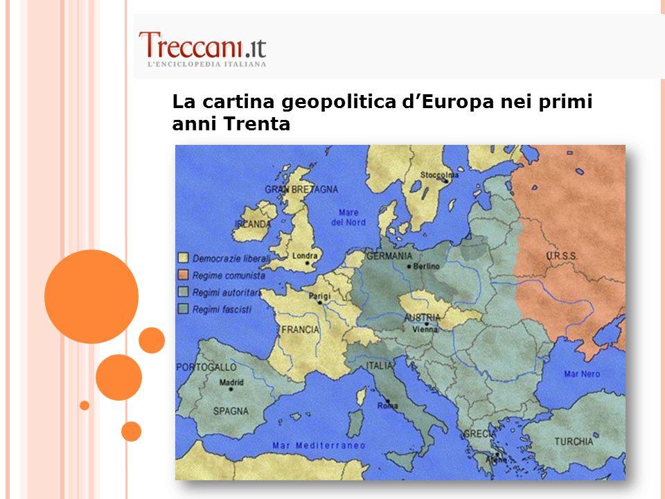 In Italia: nel 1922 il fascismo aveva preso il potere.