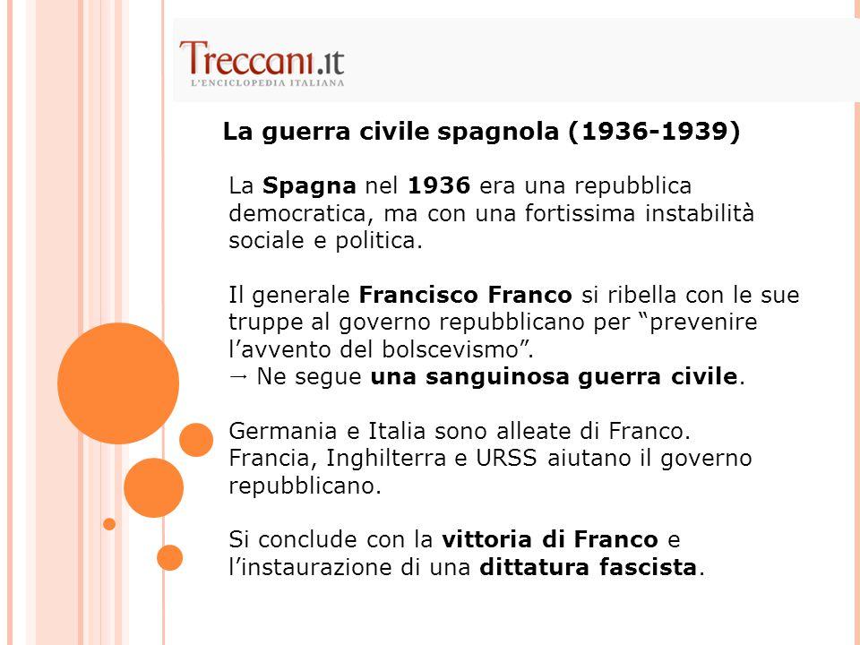 La Spagna nel 1936 era una repubblica democratica, ma con una fortissima instabilità sociale e politica. Il generale Francisco Franco si ribella con l